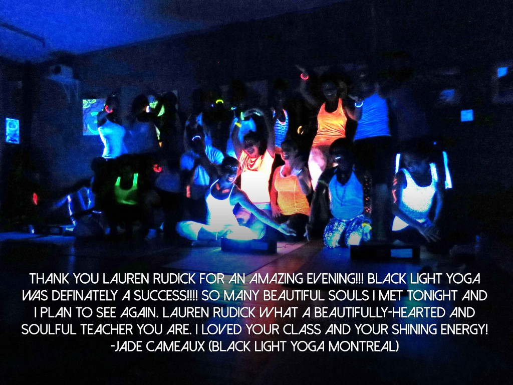 black light testimonial