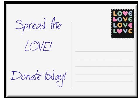 postcard donate button
