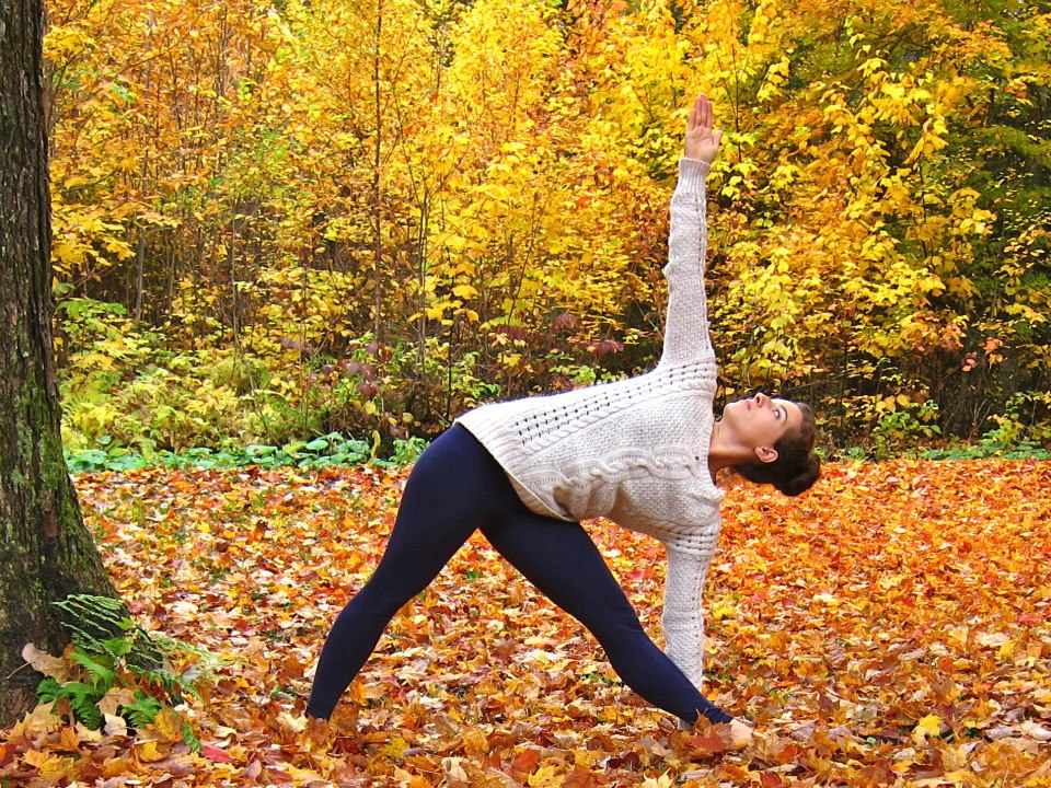 Lauren Rudick yoga triangle pose