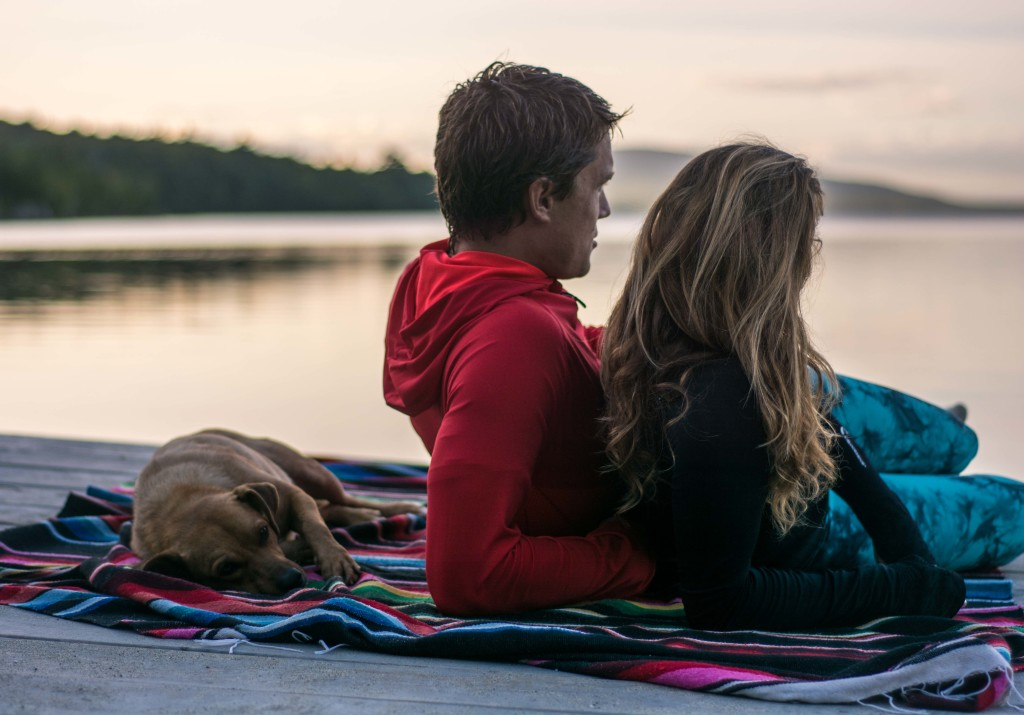 Lovers lake snuggle Maine Yoga Roadtrip