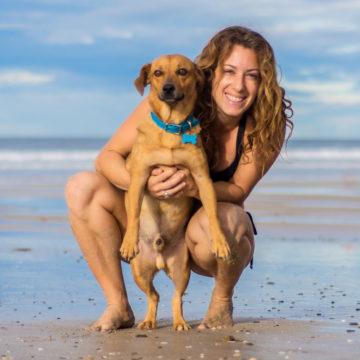 Lauren Rudick & Dog Tanto